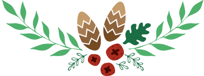 Holly & pinecone divider